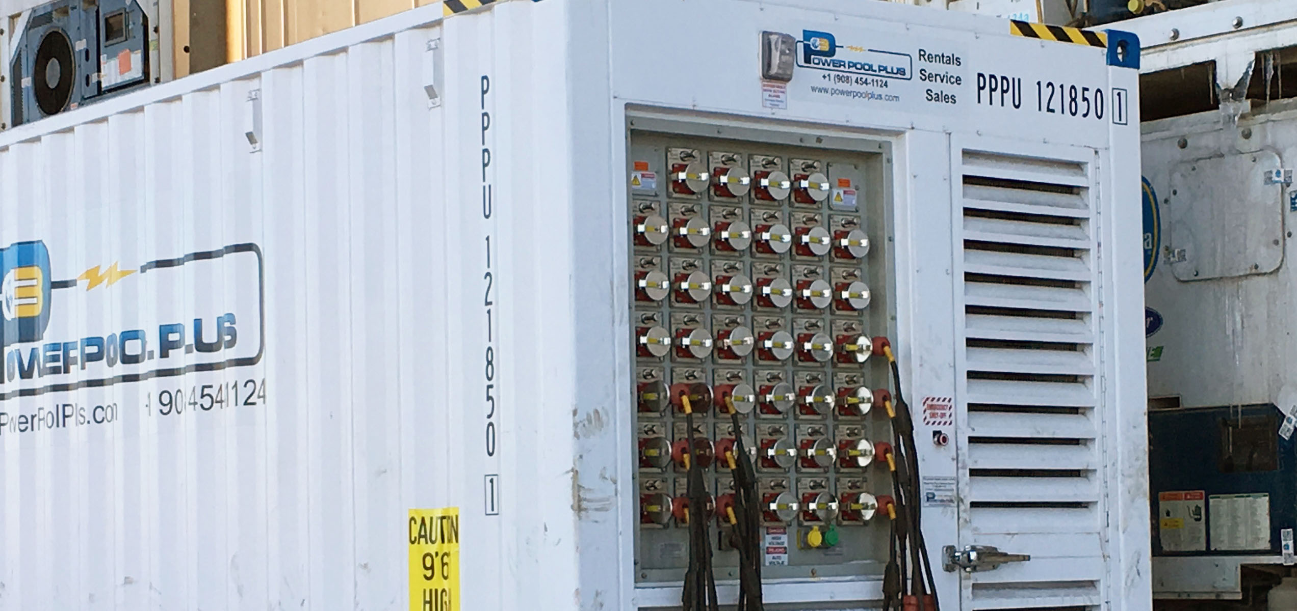 Power Pack Reefer Generator in Use