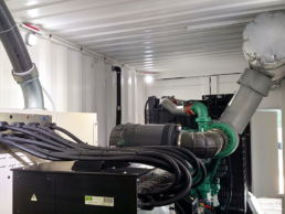 Inside of Power Pool Plus diesel reefer generator