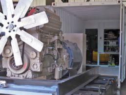 Reefer generator slide out design
