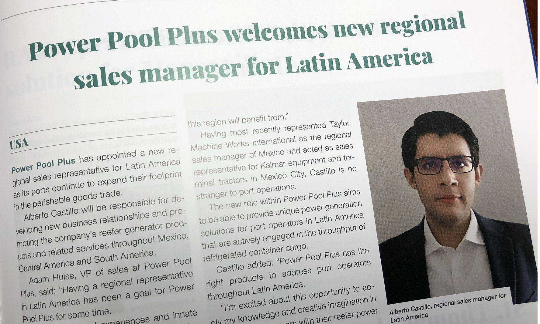 Alberto Castillo Joins Power Pool Plus