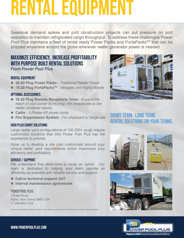 Rental Power Pack Equipment Brochure - Power Pool Plus