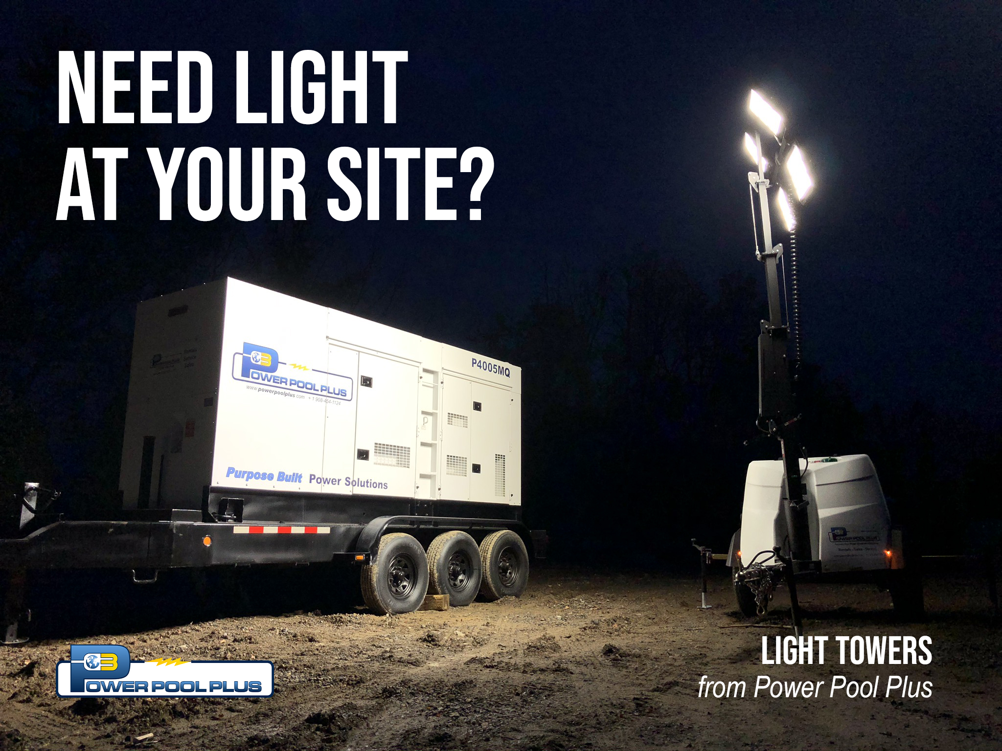 Light Towers for Sale or Rent by Power Pool Plus